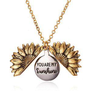 Jewelry - NWOT Rose Gold Sunflower Sunshine Necklace